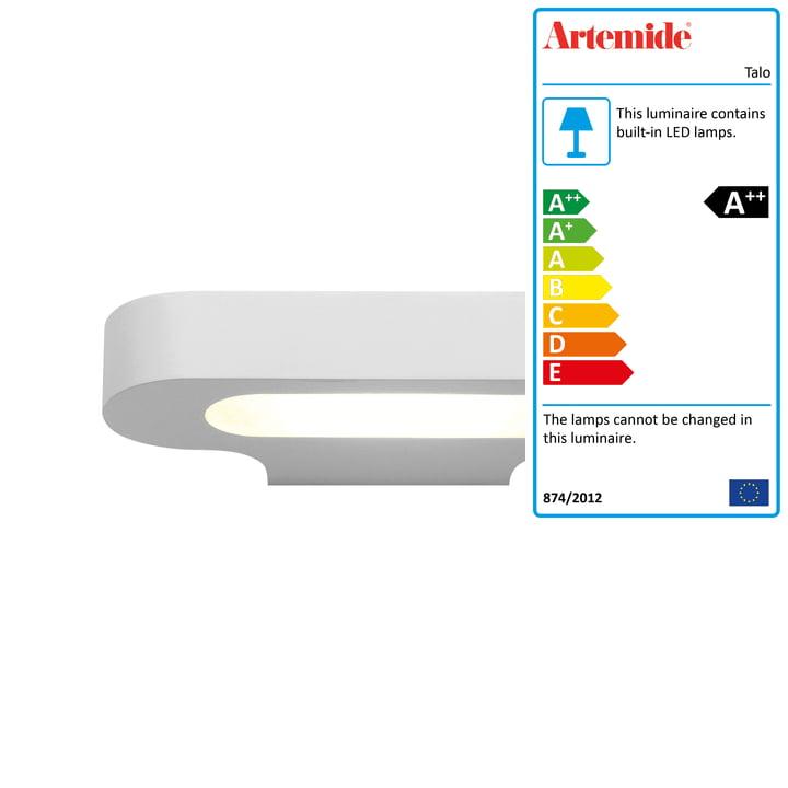 Talo LED wall light, 2700K / white from Artemide