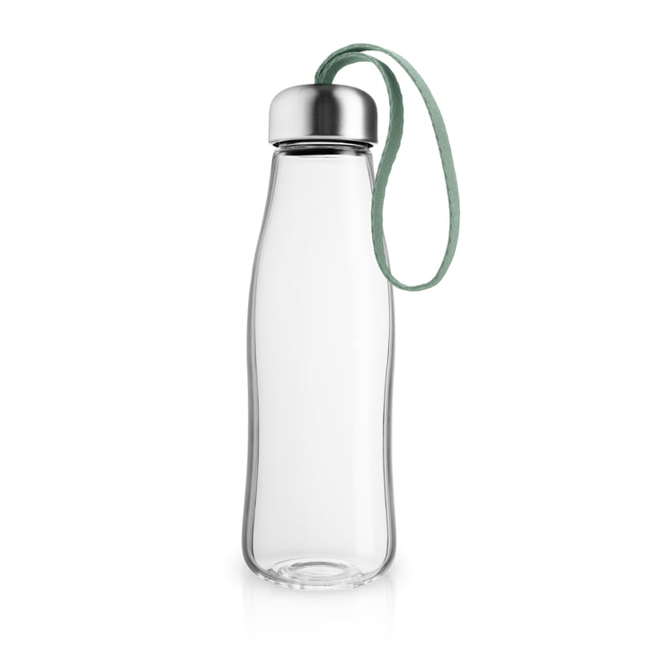 The glass drinking bottle 0.5 l, faded green by Eva Solo