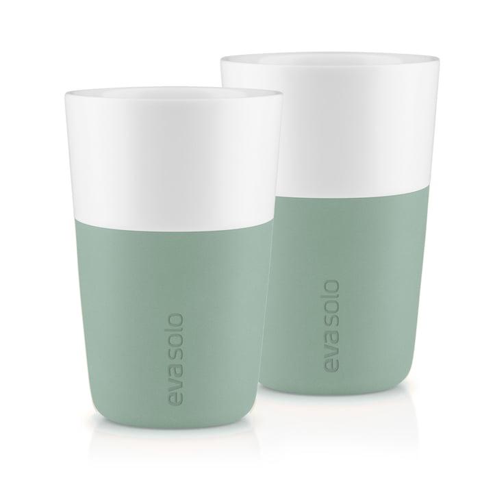 The Caffé Latte mug (set of 2), faded green by Eva Solo