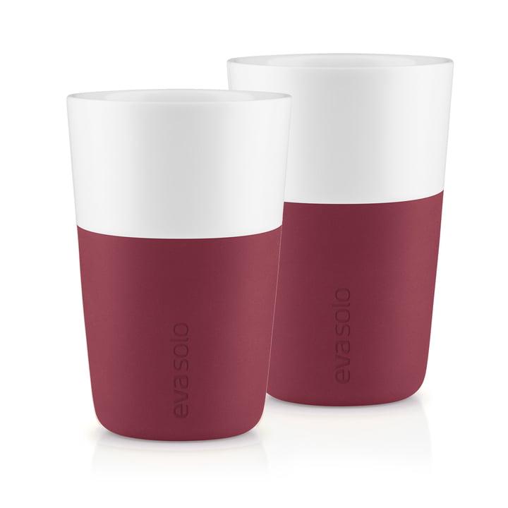 The Caffé Latte mug (set of 2), pomegranate by Eva Solo