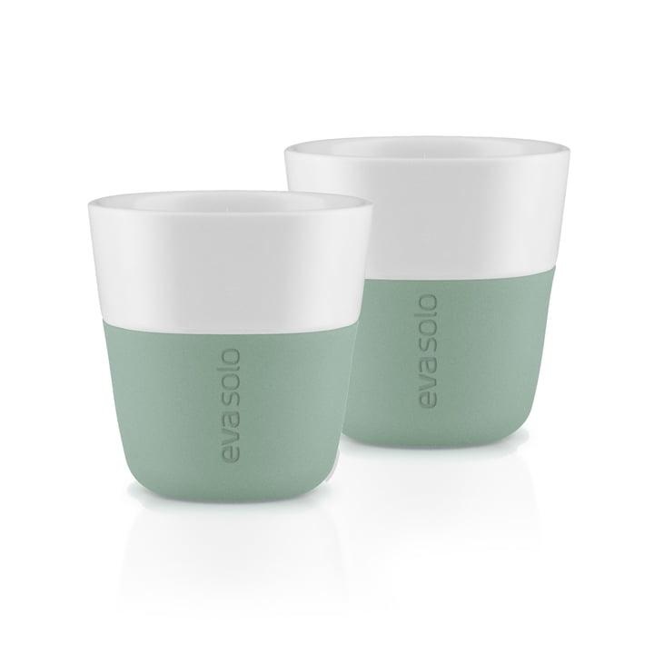 The espresso cups (set of 2), faded green by Eva Solo