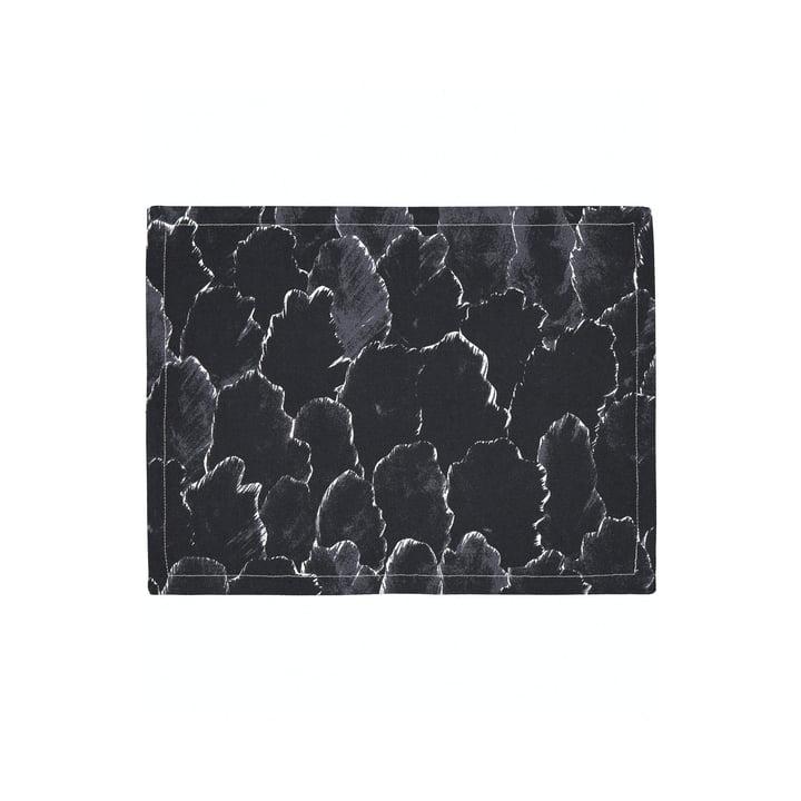The Käpykangas placemat, dark gray / white by Marimekko