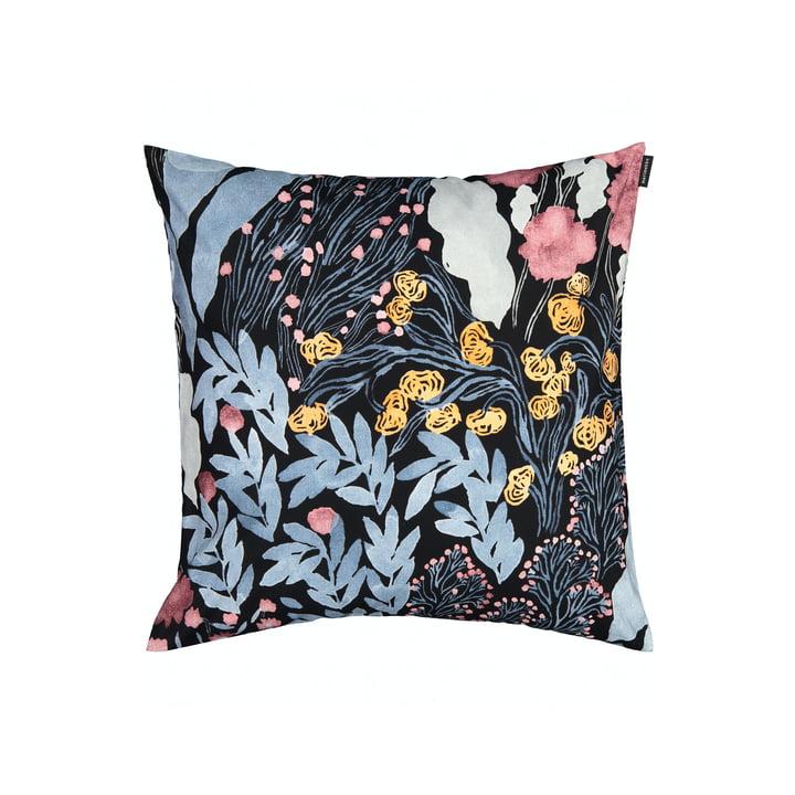 The Louhu pillowcase 50 x 50 cm, black / blue / red by Marimekko
