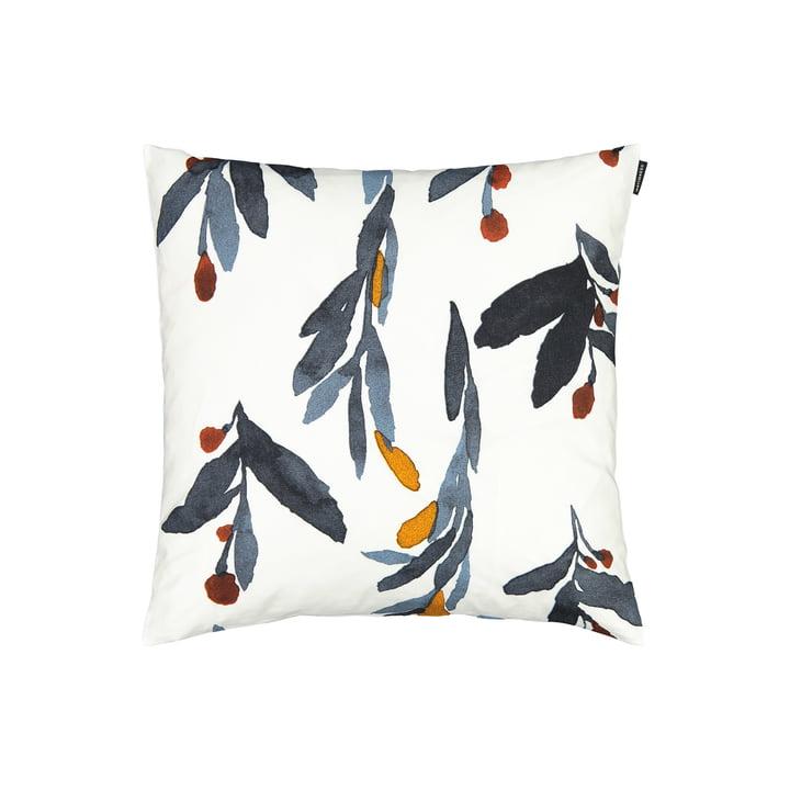 The Hyhmä cushion cover 45 x 45 cm, white / blue / orange by Marimekko