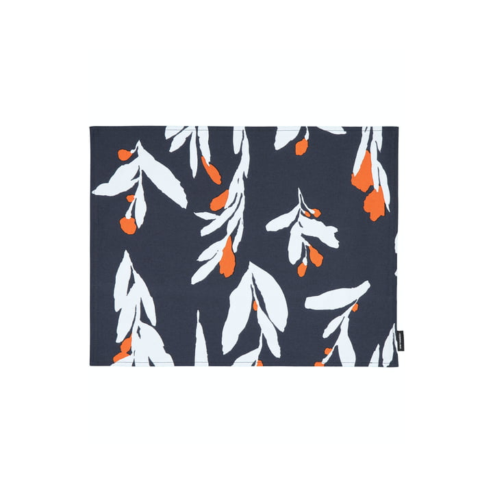 The Pieni Hyhmä placemat, dark blue / orange / blue by Marimekko