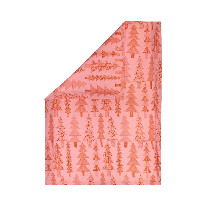 The Kuusikossa blanket cover 150 x 210 cm, pink / red by Marimekko