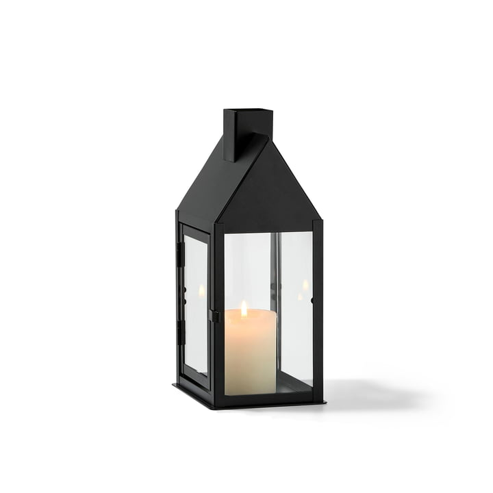 Hus lantern S, black by Philippi