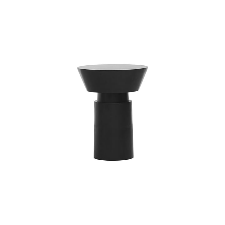 The Nanded side table, Ø 40 x H 50 cm, black by House Doctor