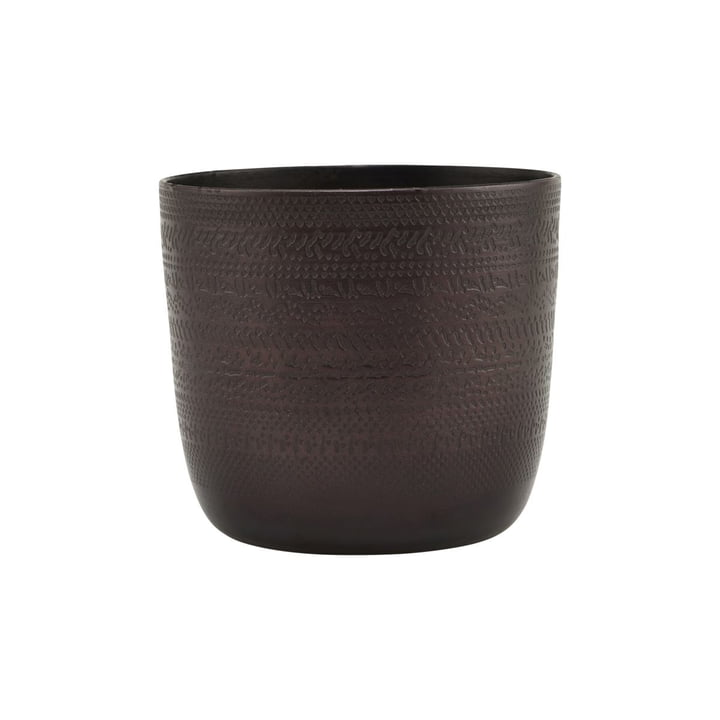 The Chappra flower pot, Ø 9.5 x H 9 cm, antique brown by House Doctor