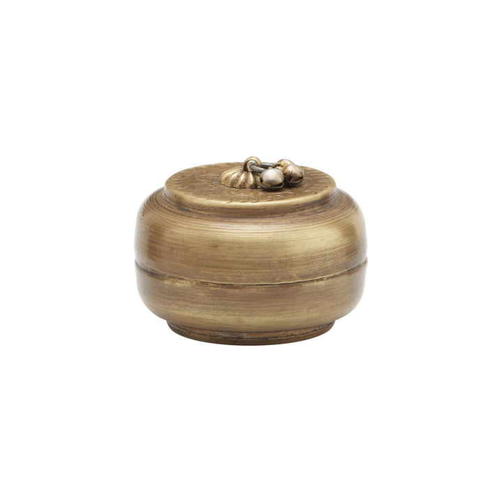 Storage with lid Linna, Ø 6 cm, brass by House Doctor