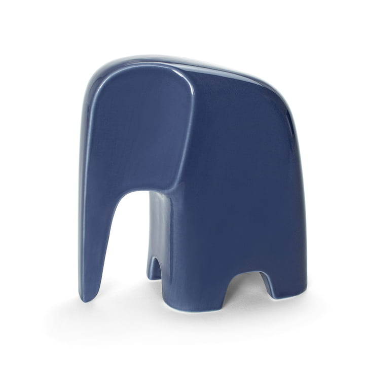 Olifant by Caussa made of porcelain in denim blue