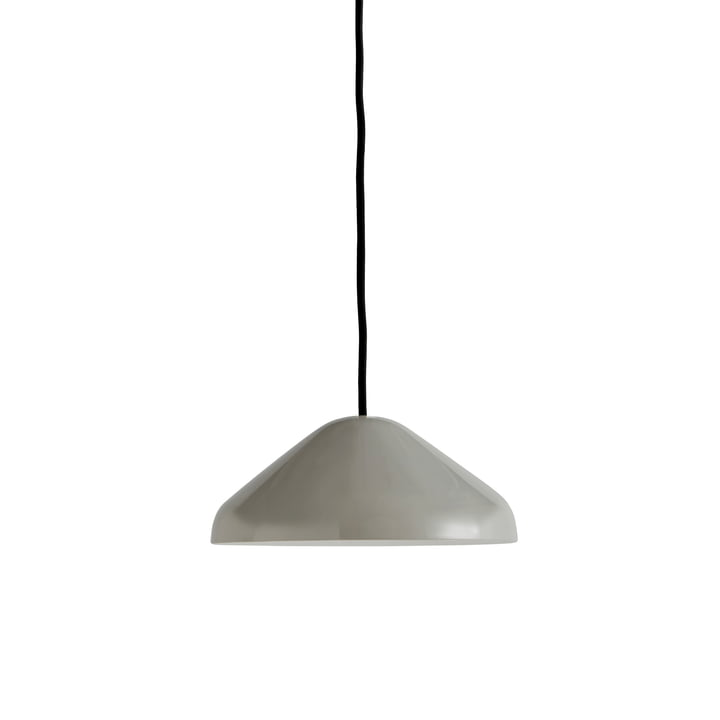 The Pao Steel pendant lamp, Ø 23 x H 10 cm, cool gray by Hay