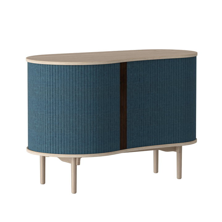 Audacious chest of drawers by Umage in natural oak / petrol blue