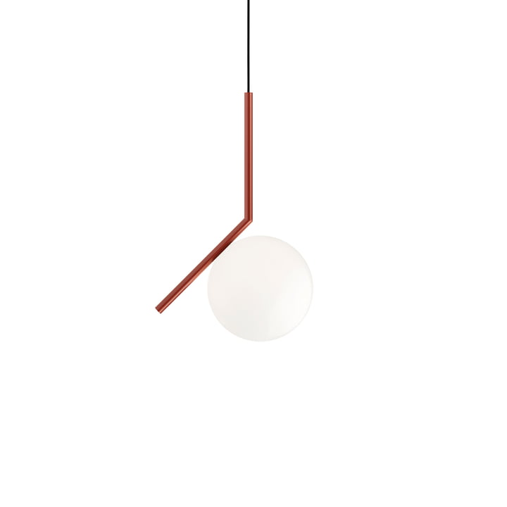 IC S1 BRO pendant lamp, burgundy red from Flos
