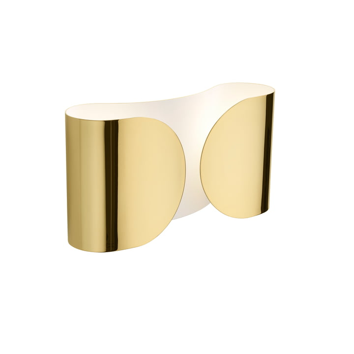 Foglio wall lamp, gold by Flos