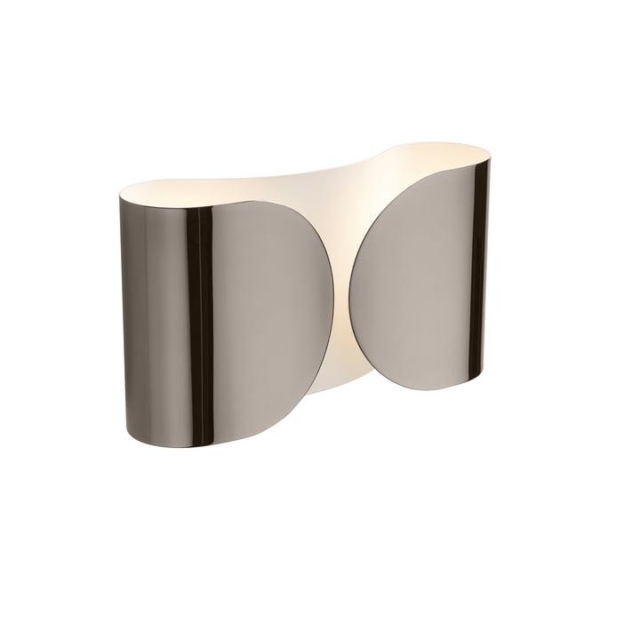 Foglio wall lamp, nickel black by Flos