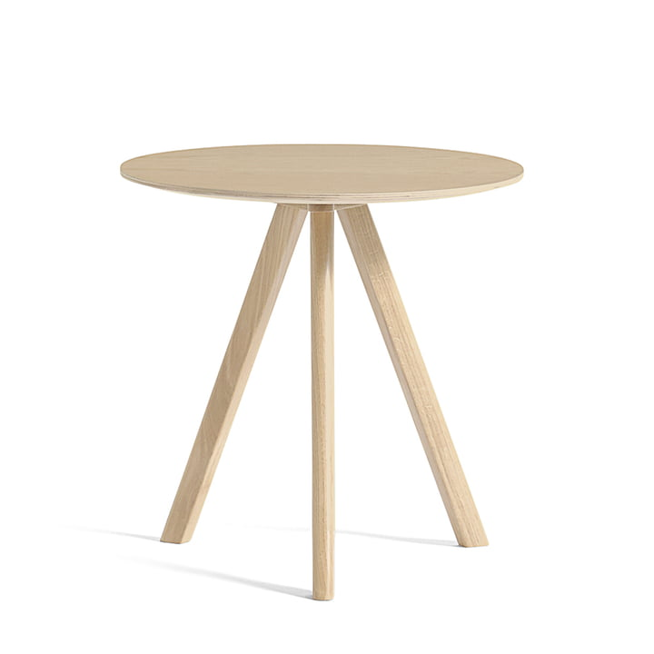 The Copenhague CPH20 side table Ø 50 cm, matt lacquered oak by Hay
