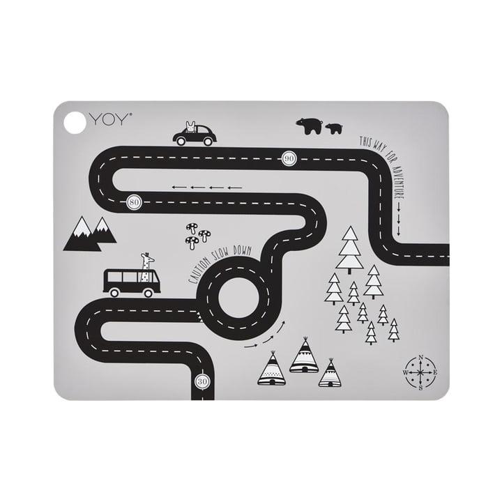 The table Adventure set, 45 x 34 cm, light grey by OYOY