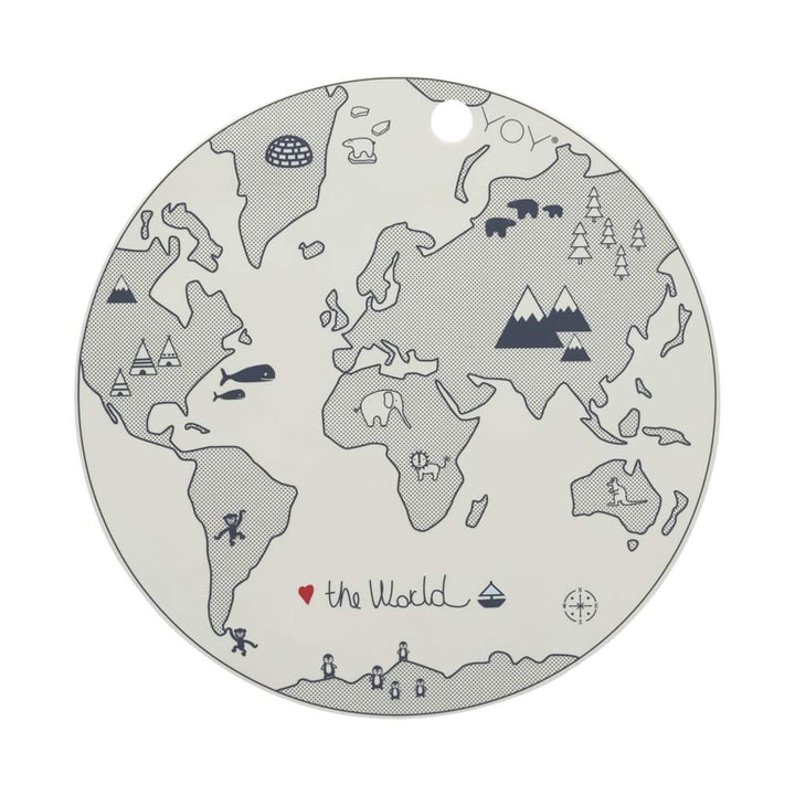 The table World set, Ø 39 cm, off-white from OYOY