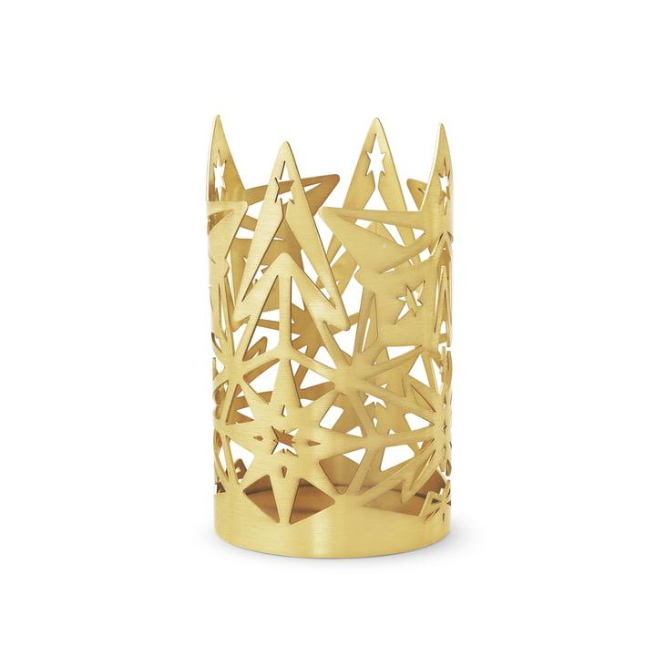 The Karen Blixen block candlestick, H 13,5 x Ø 8 cm, gold by Rosendahl