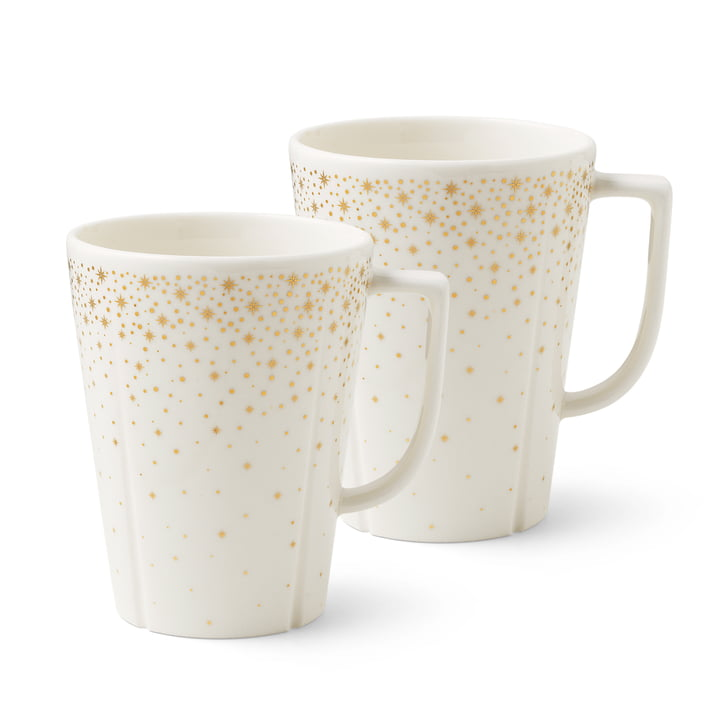 Grand Cru Moments cup (set of 2), 34 cl, white / gold by Rosendahl