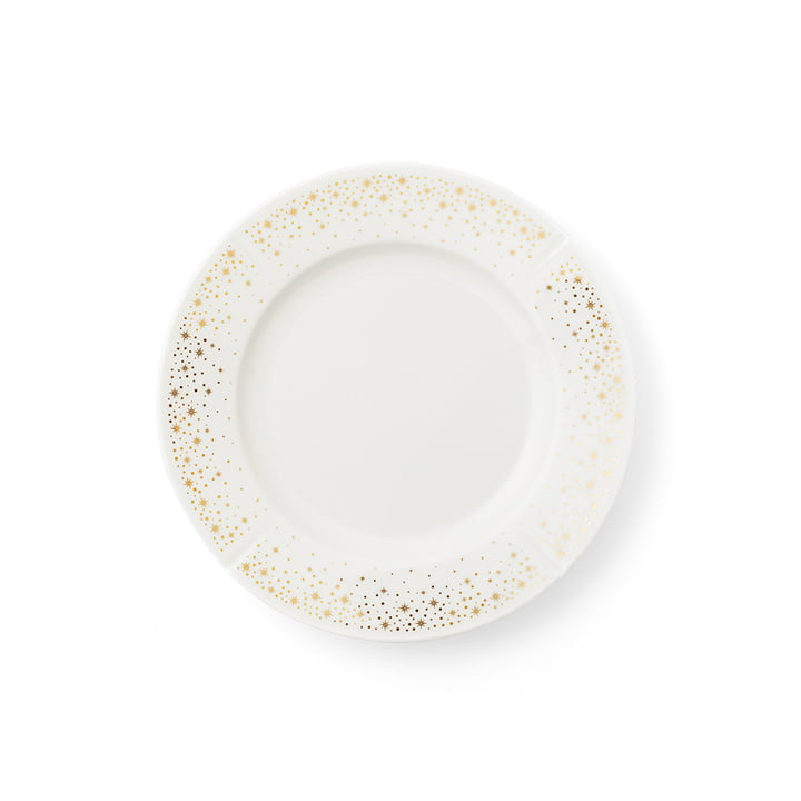 The Grand Cru Moments plate, Ø 19 cm, white / gold by Rosendahl