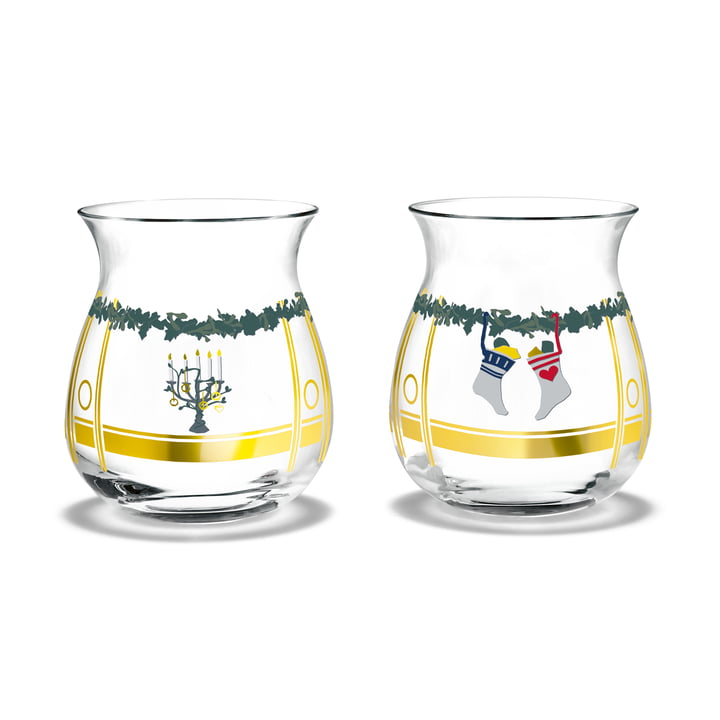The Christmas tea light holders, H 7,5 cm (set of 2) from Holmegaard