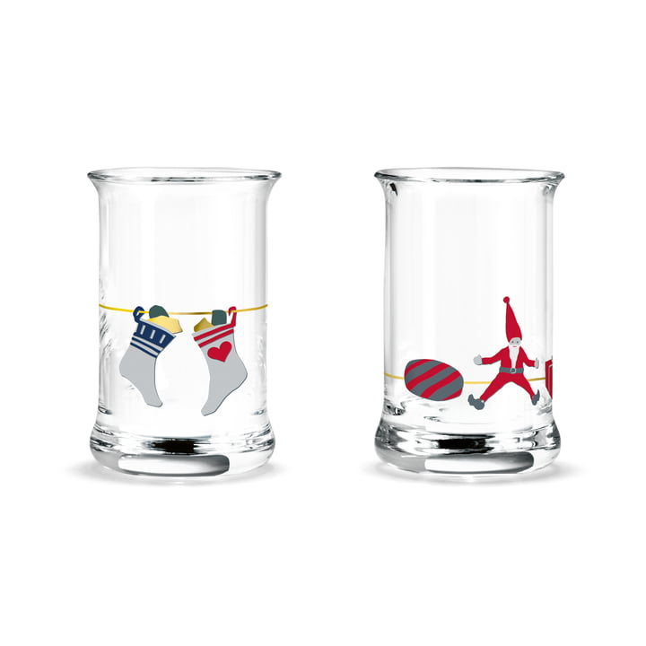 Holmegaard - Christmas shot glass, 3 cl (set of 2)