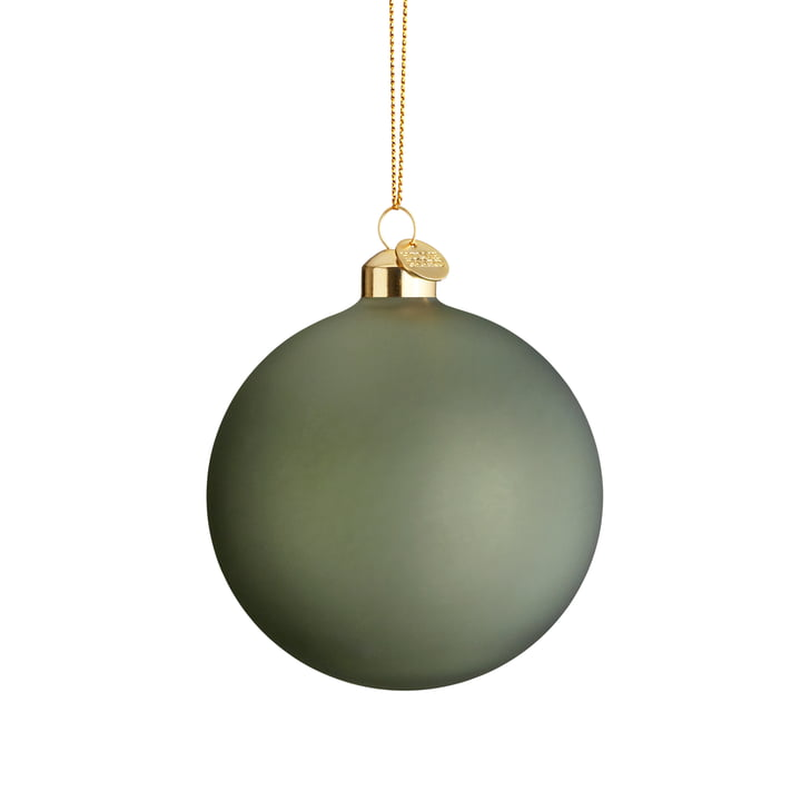 The souvenir Christmas bauble, Ø 8 cm, green from Holmegaard