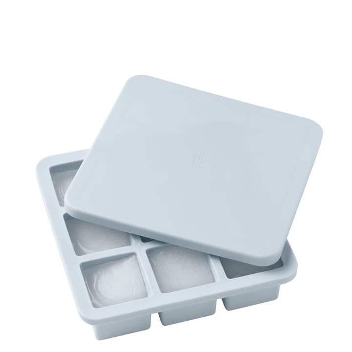 The ice cube Freeze-It maker with lid large, light blue by Rig-Tig by Stelton