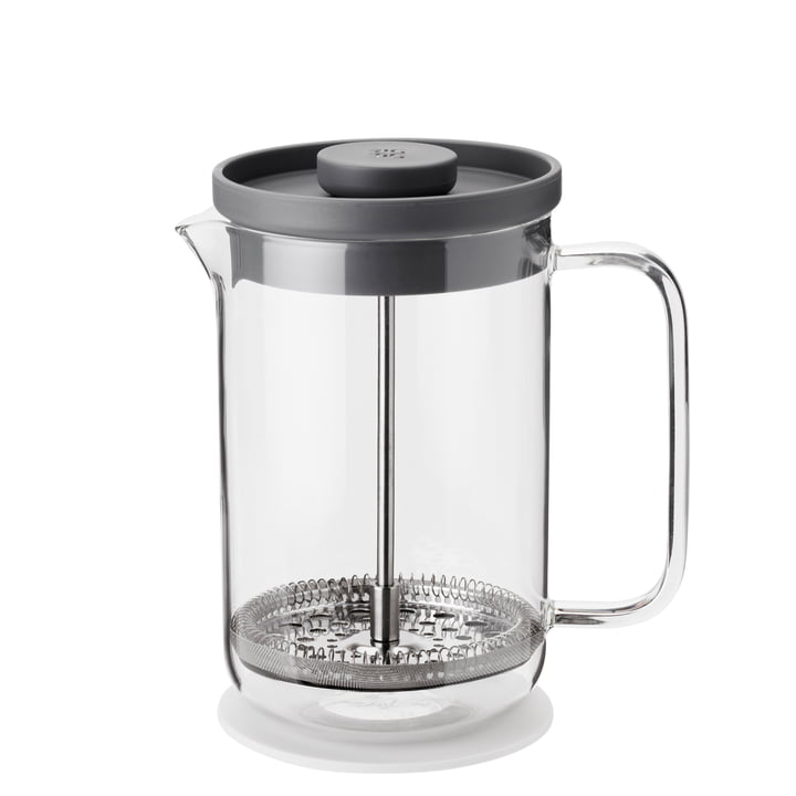 Brew-It press filter jug 0,8 l, transparent / grey from Rig-Tig by Stelton