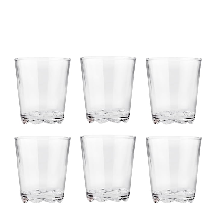The drinking Glacier glasses 0.25 l, (set of 6) from Stelton