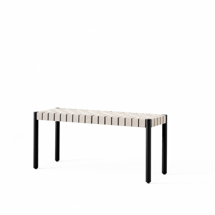 Betty TK4 bench small from & tradition in black / nature