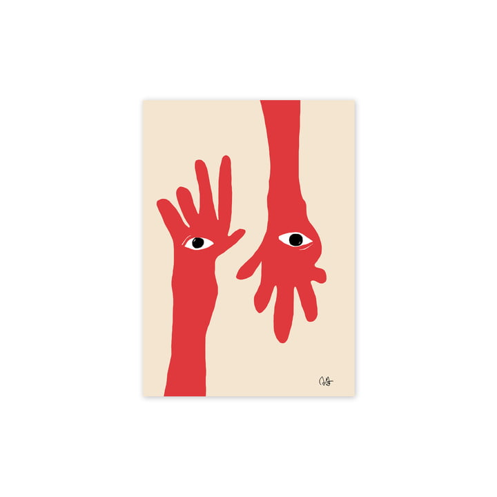 The Hamsa Hands poster, 30 x 40 cm of Paper Collective