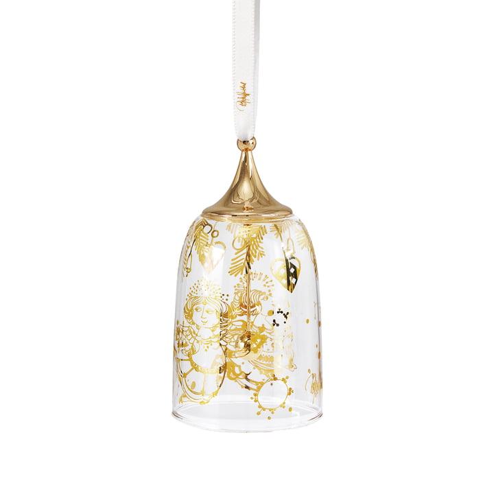 Christmas bell, H 10 cm, gold by Bjørn Wiinblad