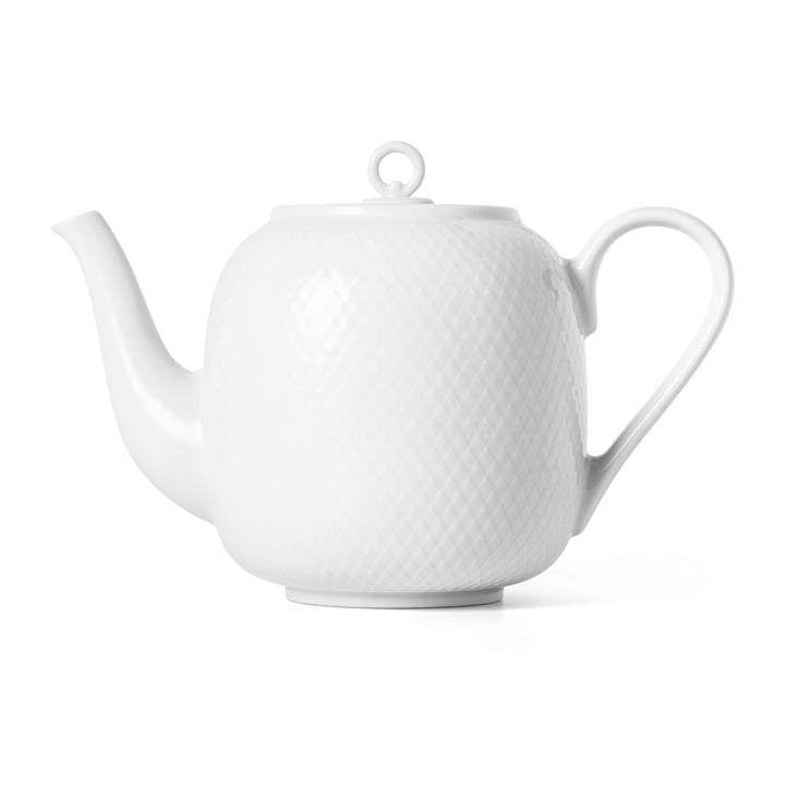 The Rhombe teapot, 1.9 l, white from Lyngby Porcelæn