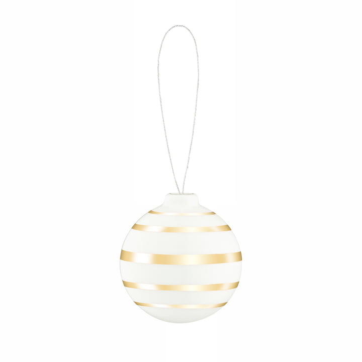 Omaggio Christmas tree ball, Ø 5 cm, gold by Kähler Design