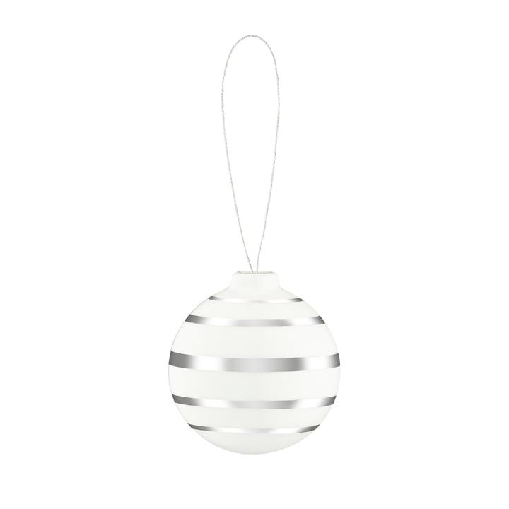 Omaggio Christmas tree ball, Ø 5 cm, silver by Kähler Design