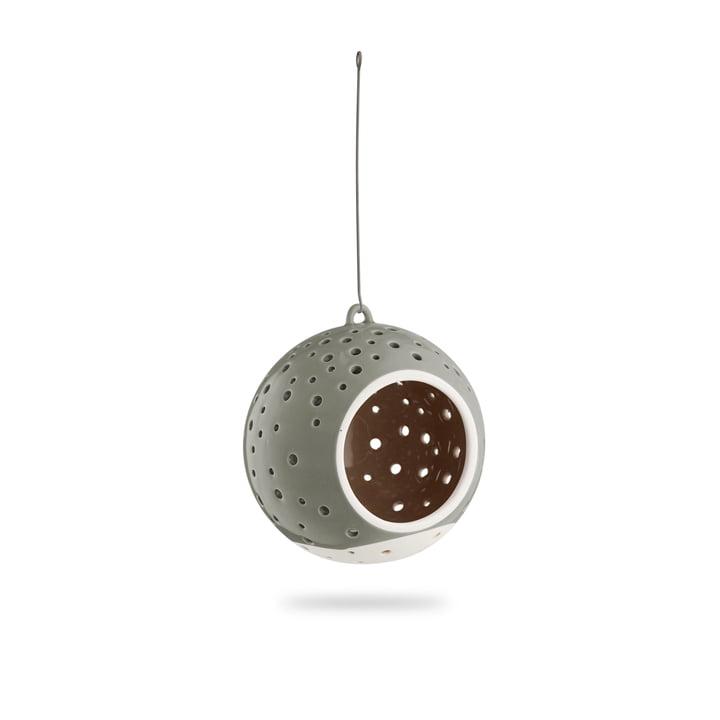 Nobili Tealight candle ball Ø 12 cm, hanging / olive green from Kähler Design