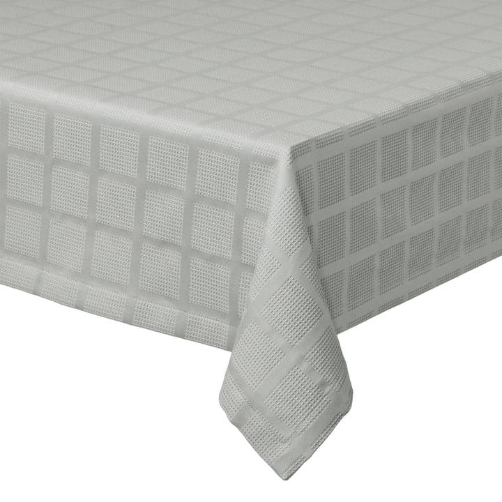 Brick Damast Tablecloth, 150 x 220 cm, grey by Juna