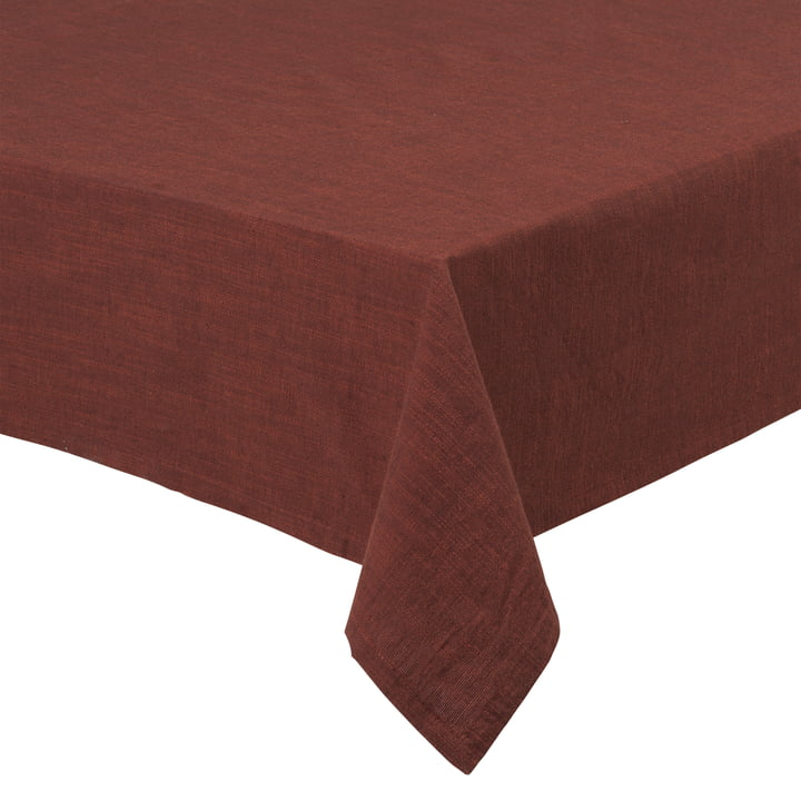 Basic Cotton tablecloth, chocolate from Juna