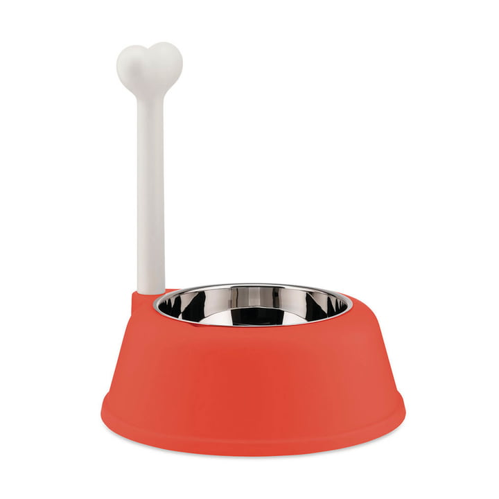 The Lupita dog bowl, red orange from Alessi
