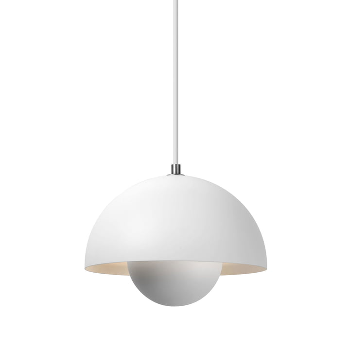 The FlowerPot pendant lamp VP1 from & Tradition, matt white