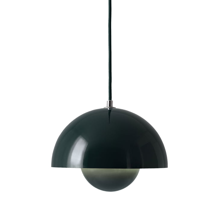 &Tradition - FlowerPot Pendant Lamp VP1, dark green