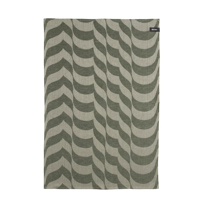 The Aalto tea towel, 47 x 70 cm, moss green by Iittala