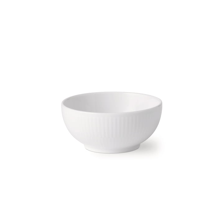 The White Ribbed Bowl 24 cl of Royal Copenhagen