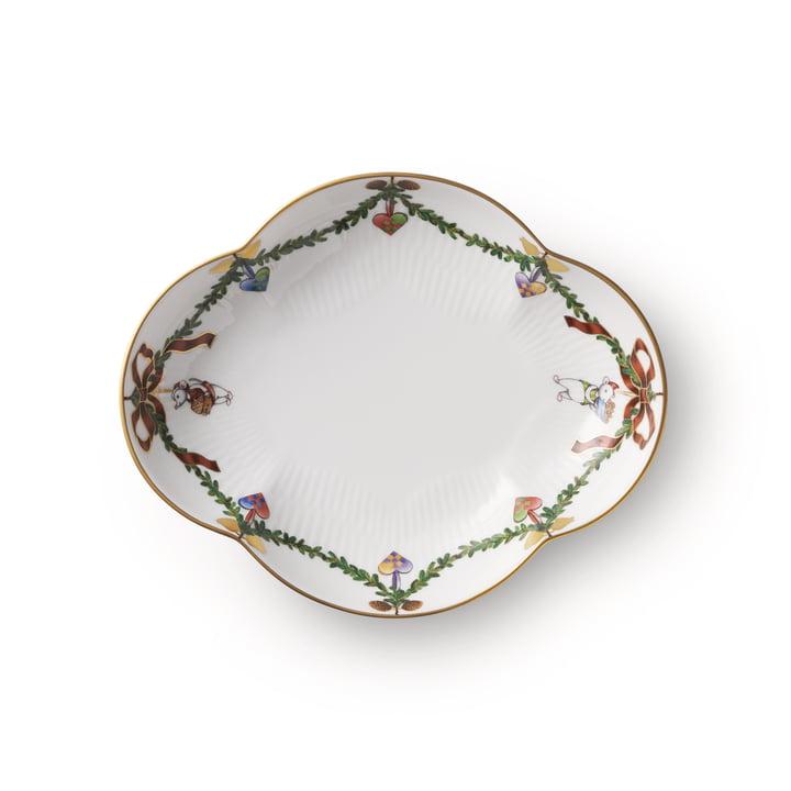 The Star Fluted Christmas platter, 17.5 cm from Royal Copenhagen