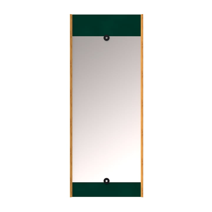The wall Layer mirror, conifer green from We Do Wood