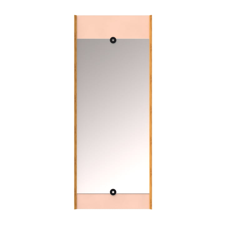 The wall Layer mirror, powder rose from We Do Wood