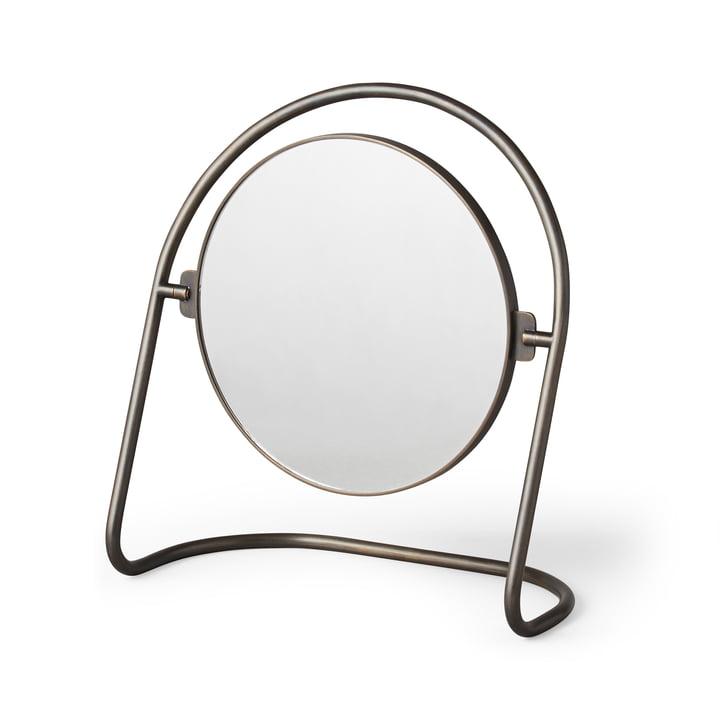 The Nimbus table mirror, brass bronze by Menu